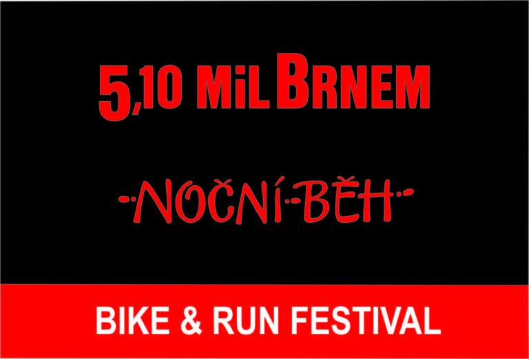 Noční běh 5.10 mil Brnem